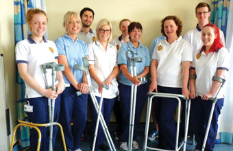 Physiotherapists save department thousands with recycling mission